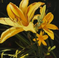 """Chet  White, """"Good Morning Sunshine"""", oil, $750"""