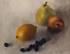 """Linda  Wilkinson, """"Summer's End"""", oil, $175"""