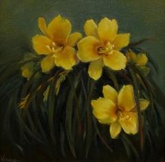 """Lynn Wrona, """"Oh So Yellow"""", oil, $495"""