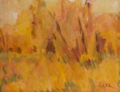 "Jane Zisk, ""Autumn Marsh"", acrylic, $500"