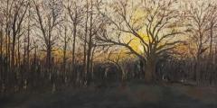 """Vivian Zoe, """"COVID Sunrise"""", oil, $1,200"""
