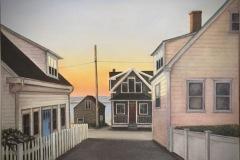 Linehan_Lisa_Dyer-Street-Provincetown_oil_21x21_2600