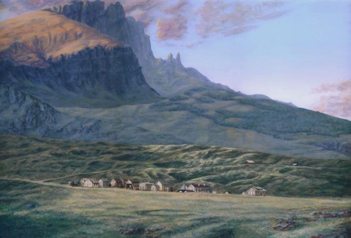 Remote Village, acrylic, 16 x 24