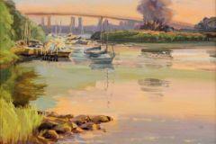 Holmes-Pilgrims-Landing-Sunset-Calm