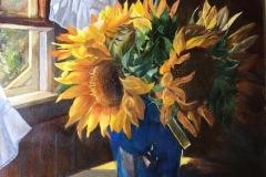 Chapman_Judith_SunflowersInBlueSandpail_oil_14x18_1200