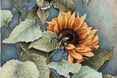 Dewell_Paula_Sunflower_mixedmedia_17.5x15_350