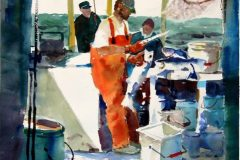 Noreika_Robert_CharterBoatBlues_watercolor_22x115