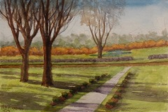 PiersonMD_AnneBingham_FrontWalkShadows_watercolor_11x14_275