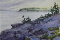 "Ralph Acosta, ""Cliffside"", watercolor, $375"