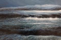 "Del-Bourree Bach, ""Night Work"", acrylic, $13,000"