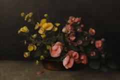 "Patt Baldino, ""Begonias"", oil, $3,200"