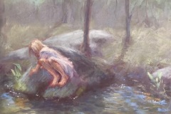 "Joann Ballinger, ""Looking Carefully"", pastel, $1,500"