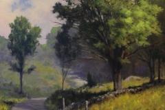 """Harley Bartlett, """"Country Lane"""", oil, $6,500"""