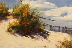 "John Caggiano, ""Summer Dunes"", oil, $3,200"