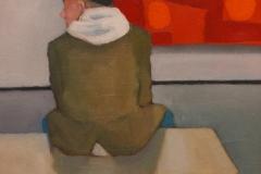 "Michael Centrella, ""Bird Watching"", oil, $1,400"