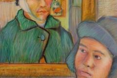 "Michael Centrella, ""Winter Blues"", pastel, $900"