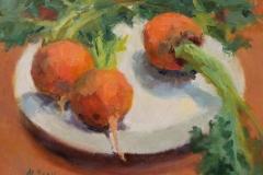 "Margaret Dean, ""Golden Beets"", oil, $500"