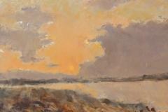 "Margaret Dean, ""Sunset Mingo Point"", oil, $900"