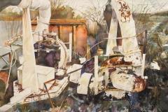 "Mike Eagle, ""Fabulous Machinery"", watercolor, $1,000"