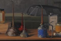 """Eileen Eder, """"Garage Shelf"""", oil, $2,500"""
