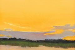 "Sandy Garvin, ""Summer Night at Mile Creek"", oil, $600"