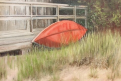 """Donna Gilberto, """"At Rest on Old Black Point"""", oil, $1,200"""