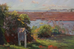 """Michael Graves, """"At the Boat Ramp"""", oil, $3,300"""