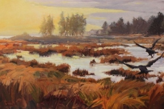 """Jennifer Holmes, """"Afternoon Sojourn"""", oil, $2,800"""