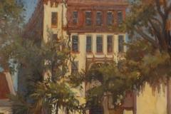 """Jennifer Holmes, """"Treasury, St Augustine"""", oil, $2,200"""