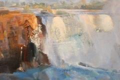 "Sunil Howlader, ""Memory of Niagara"", oil, $3,200"