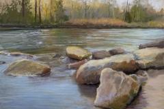 "Karen Israel, ""A Distant Shore"", pastel, $925"