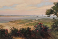 """Jackie Jones, """"Aside the Sea in Chatham"""", oil, $6,000"""