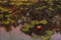 "Jackie Jones, ""By the Lily Pond"", oil, $4,000"