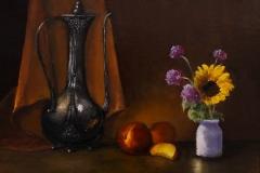 """Randie Kahrl, """"Just Peachy"""", oil, $895"""