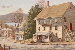 "Jim Laurino, ""Society Hall"", oil, $3,500"
