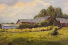 "James Magner, ""Farm Stand"", oil, $2,900"
