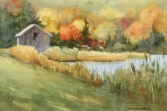 """Barbara Maiser, """"Autumn, New England"""", watercolor, $700"""