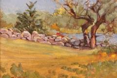 """Bernie McTigue, """"Cove at Haley Farm"""", oil, $850"""
