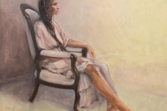 "Mary Mellot, ""Soft Gaze"", oil, $1,800"
