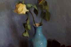 "Jack Montmeat, ""Roses in Blue"", oil, $3,500"