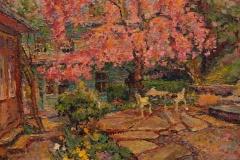 "Leif Nilsson, ""Cherry Tree garden"", oil, $15,000"