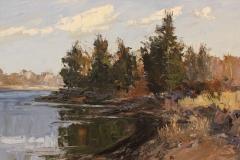 "Howard Park, ""Knox Preserve Reflection"", oil, $1,200"