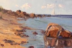 """Howard Park, """"South Beach Light"""", oil, $2,400"""