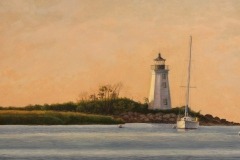 "Bob Perkowski, ""Fayerweather Dawn"", oil, $1,500"