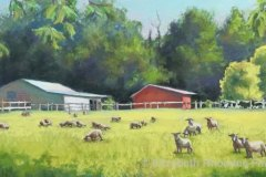 "Elizabeth Rhoades, ""Grazin in the Grass"", pastel, $2,000"