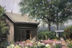 "Beverly Schirmeier, ""Florence Griswold in Bloom"", pastel, $725"