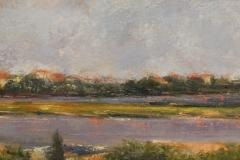 "Nancy Schroeder, ""Vibrant Marsh"", mixed media, $500"