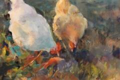 "Shauna Shane, ""Breakfast "", watercolor, $550"