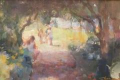 "Shauna Shane, ""Flower Bridge"", pastel, $850"