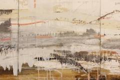 "Dennis Sirrine, ""Marsh Migration"", mixed media, $5,900"